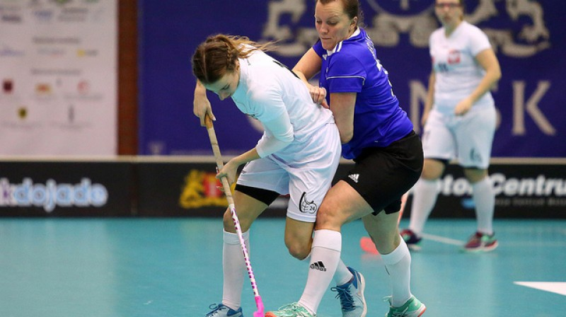Polijas izlase tikusi pie ļoti vērtīgas uzvaras pār Igauniju Foto: IFF Floorball