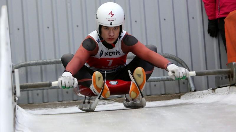 Gints Bērziņš. Foto: Latvijas Kamaniņu sporta federācija