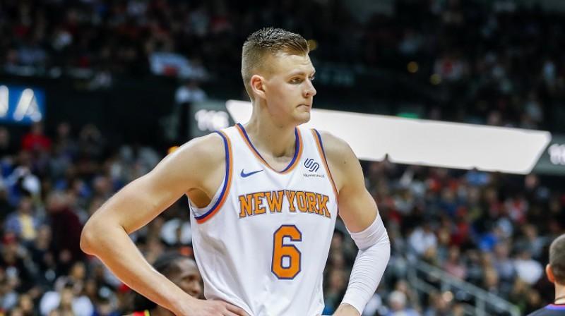"""Kristaps Porziņģis: 186 spēles Ņujorkas """"Knicks"""" kreklā. Foto: EPA/Scanpix"""