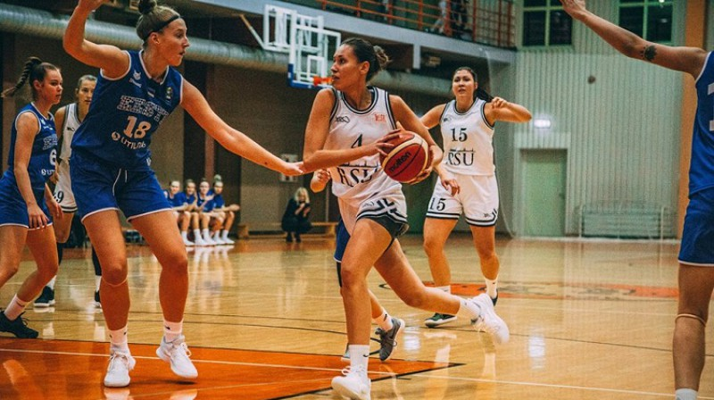 RSU aizsardze Anna Buša. Foto: Basket.lv