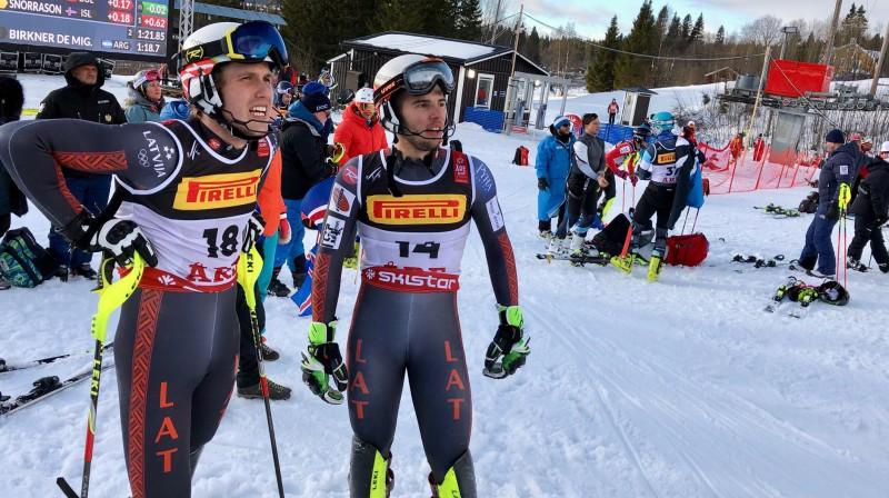 Miks Zvejnieks un Žaks Gedra. Foto: Latvian Alpine