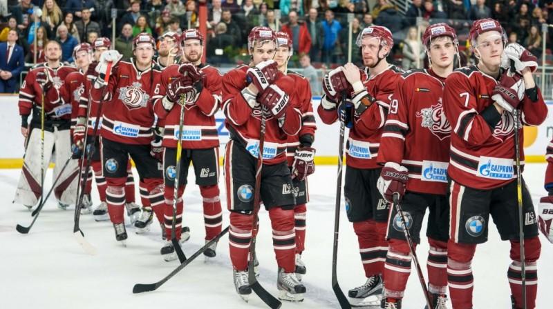 Rīgas ''Dinamo'' hokejisti. Foto: Raimonds Volonts/dinamoriga.lv