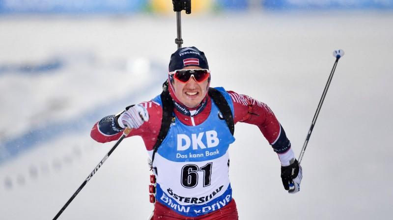Andrejs Rastorgujevs finišē pasaules čempionātā. Foto: AFP/Scanpix