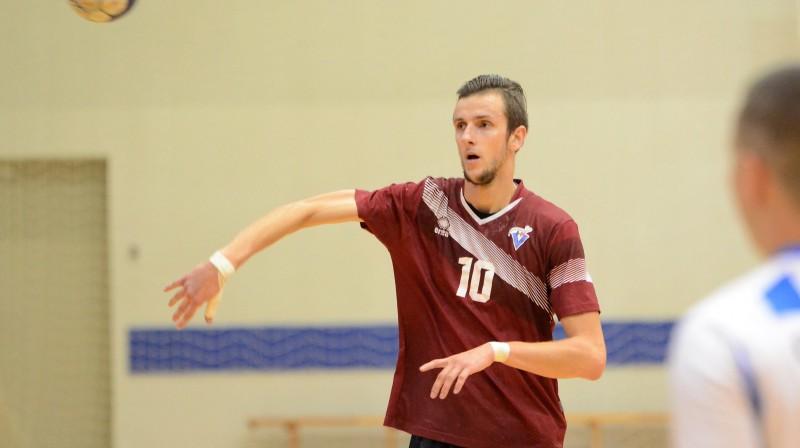 """""""Vaiņodes"""" handbolists Ainārs Pāvils. Foto: handball.lv"""