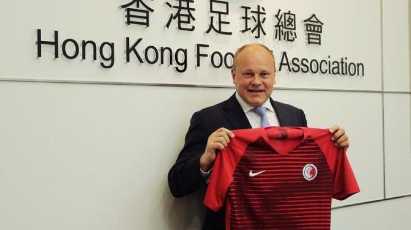 Miksu Pātelainens Honkongā. Foto: Honkongas Futbola asociācija