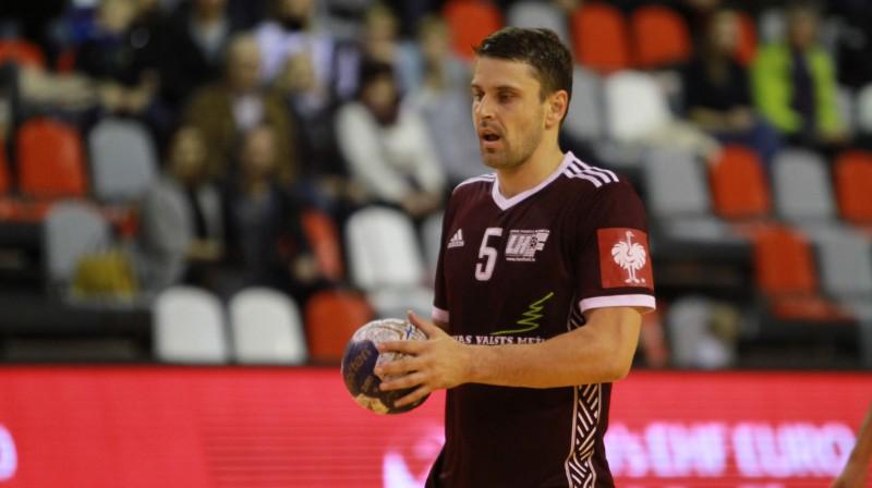 Latvijas izlases rezultatīvākais spēlētājs Māris Veršakovs. Foto: Sandra Škutāne/handball.lv