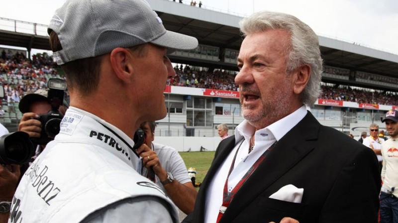 Mihaels Šūmahers un Vilijs Vēbers. Foto: Formula1.com