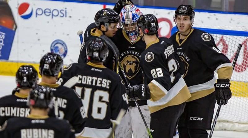 """Kristiāna Rubīna """"Growlers"""" izcīnīja otro uzvaru ECHL Austrumu finālā. Foto: """"Growlers"""""""