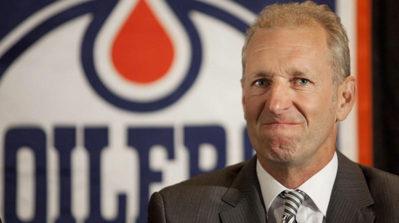 """Ralfs Krīgers laikā, kad trenēja Edmontonas """"Oilers"""". Foto: AP/Scanpix"""