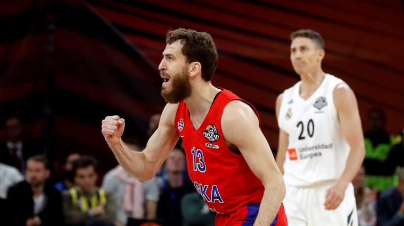 Serhio Rodrigess un CSKA: Eirolīgas fināls pēc trīs gadu pārtraukuma. Foto: Scanpix