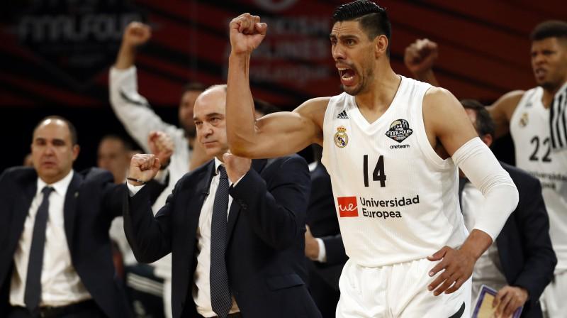 "Madrides ""Real"" basketbolists Gustavo Ajons. Foto: Reuters/Scanpix"