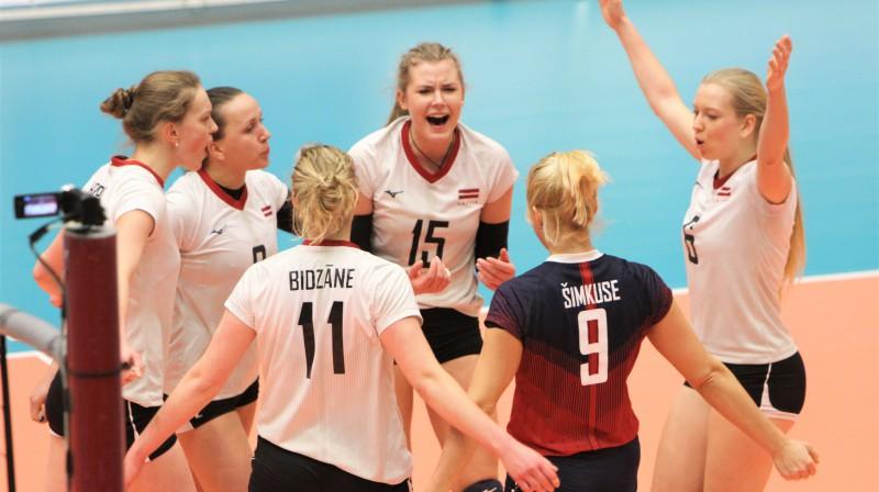 Latvijas dāmu volejbola izlase. Foto: volejbols.lv