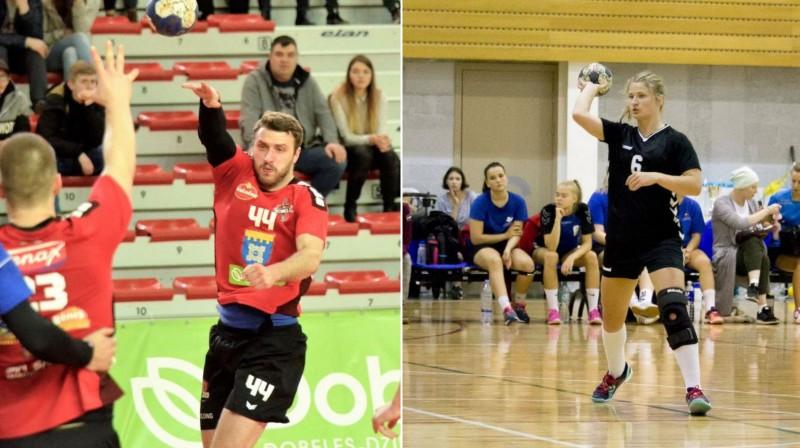 Oskars Arājs un Simona Ārmane. Foto: handball.lv