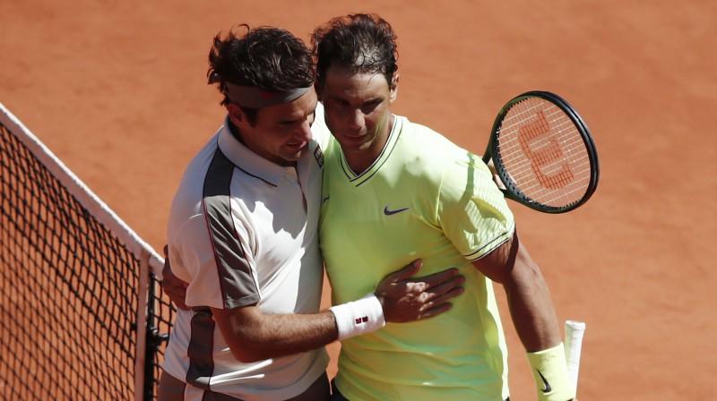 Rodžers Federers un Rafaels Nadals. Foto: Reuters/Scanpix