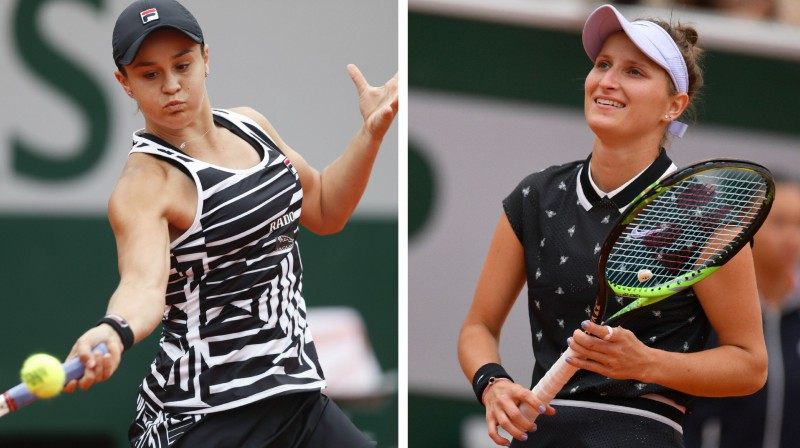 Ešlija Bārtija un Marketa Vondrušova. Foto: AFP/Scanpix