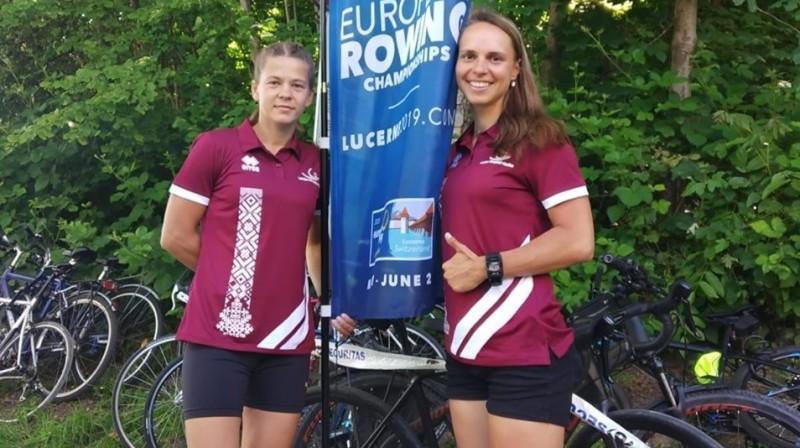 Olga Svirska (no kreisās) un Evita Bole. Foto no E. Boles Facebook profila