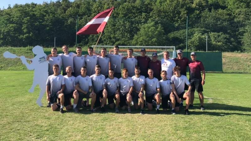 Latvijas U20 lakrosa izlase. Foto: Team Latvia Lacrosse