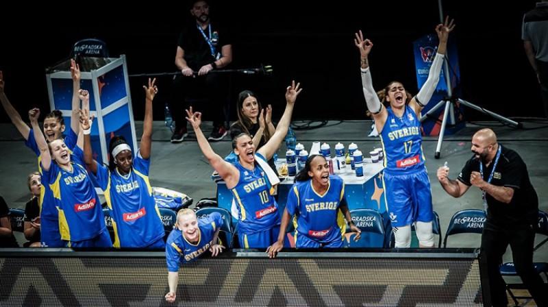 Zviedrijas basketbolistes. Foto: FIBA