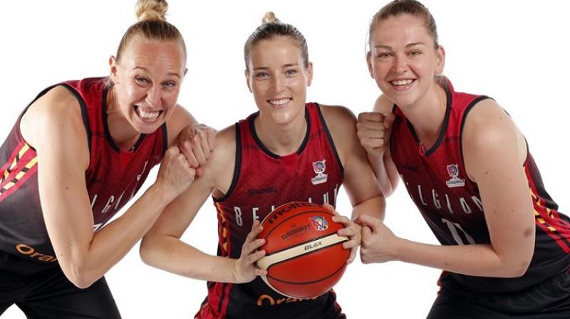 Enna Voutersa, Kima Mestdaga un Emma Mēsemana. Foto: FIBA