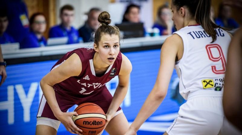 Latvijas U20 izlases kapteine Luīze Šepte. Foto: FIBA