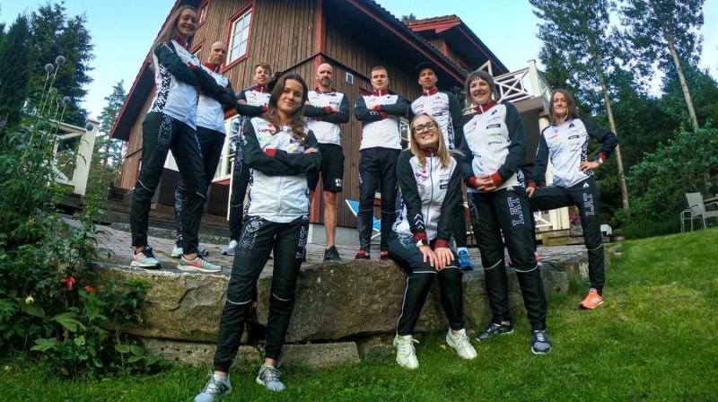 Latvijas orientēšanās izlase pasaules čempionātā. Foto: Latvijas Orientēšanās federācija
