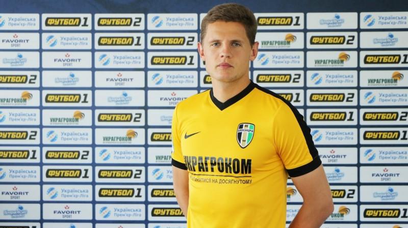Kaspars Dubra jaunās komandas kreklā. Foto: fco.com.ua