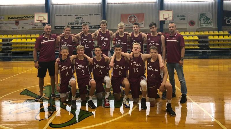 Latvijas U14 zēnu izlase 2019 . gadā