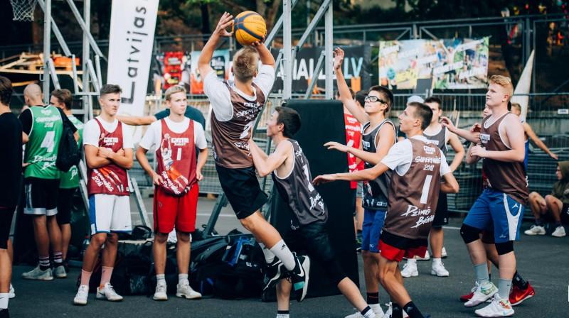 """2018. gada """"Ghetto Basket"""" superfināls Grīziņkalnā Publicitātes foto"""