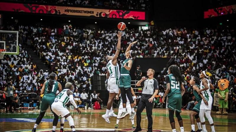 "Oskars Lucis ""AfroBasket Women 2019"" finālā 18. augustā. Foto: FIBA"