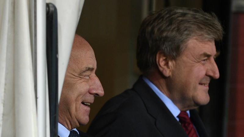 Jānis Mežeckis un Vladimirs Žuks. Foto: Romāns Kokšarovs/f64