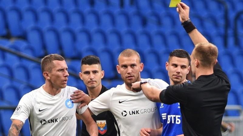 """Epizode no RFS un Maskavas """"Dynamo"""" spēles. Foto: fcdynamo.ru"""