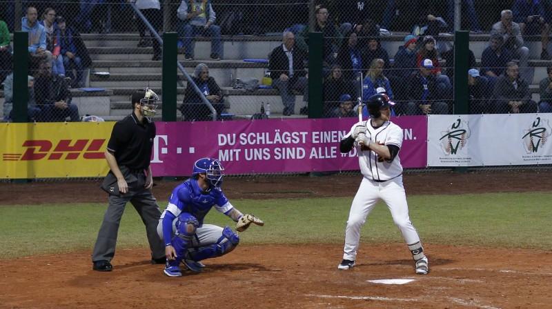 Epizode no Izraēlas-Vācijas spēles Foto: Imago/Scanpix