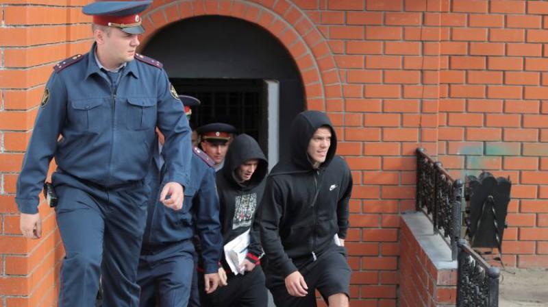 Aleksandrs Kokorins atstāj cietumu. Foto: Reuters/Scanpix