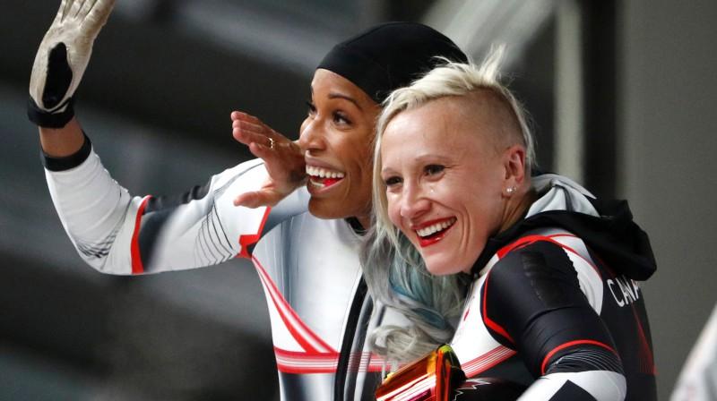 Keilija Hamfrīsa (priekšplānā) Phojnočhanas olimpiskajās spēlēs. Foto: Reuters/Scanpix