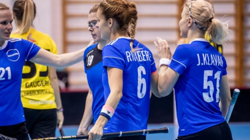 Igaunijas izlase sagaidījusi pirmo mājas spēli Foto: Floorball.lv