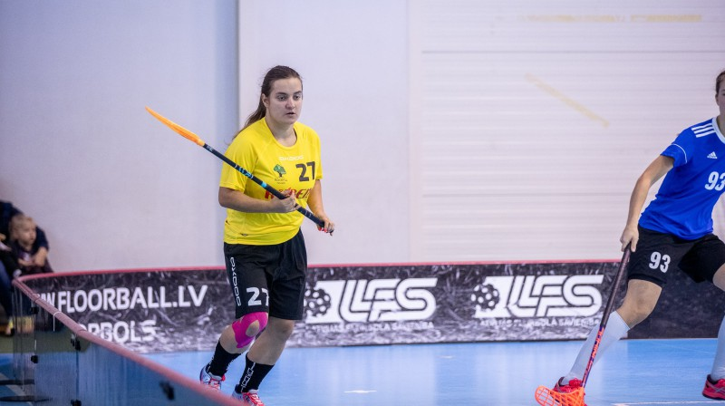 """Danute Tinkuse kļuvusi par """"Rubenes"""" uzbrukuma līderi Foto: Floorball.lv"""