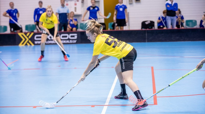"Laura Gaugere, Kocēnu ""Rubene"". Foto: Raivo Sarelainens, floorball.lv"