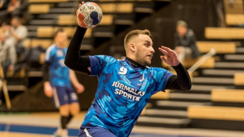 """Jūrmalas Sports"" handbolists Edgars Korzāns. Foto: handball.lv"