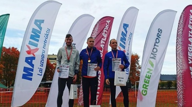 Edgars Šumskis, Reinis Hartmanis, Salvis Gruševs . Foto: LVS