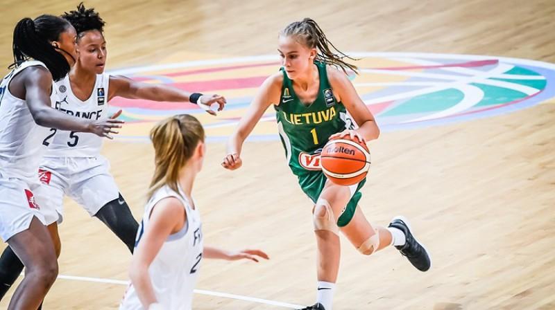 Juste Jocite un Lietuvas U16 izlase augustā Skopjē divreiz pieveica Franciju. Foto: FIBA