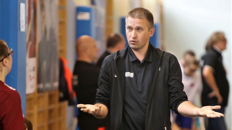 Latvijas izlases galvenais treneris Jurijs Fedulovs. Foto: Ritvars Raits, floorball.lv