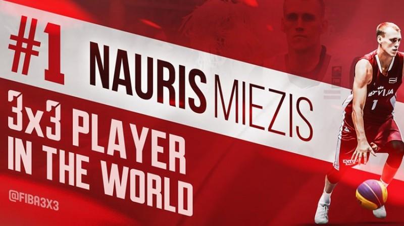 Nauris Miezis ir pasaules pirmais numurs 3x3 basketbolā. Foto: FIBA