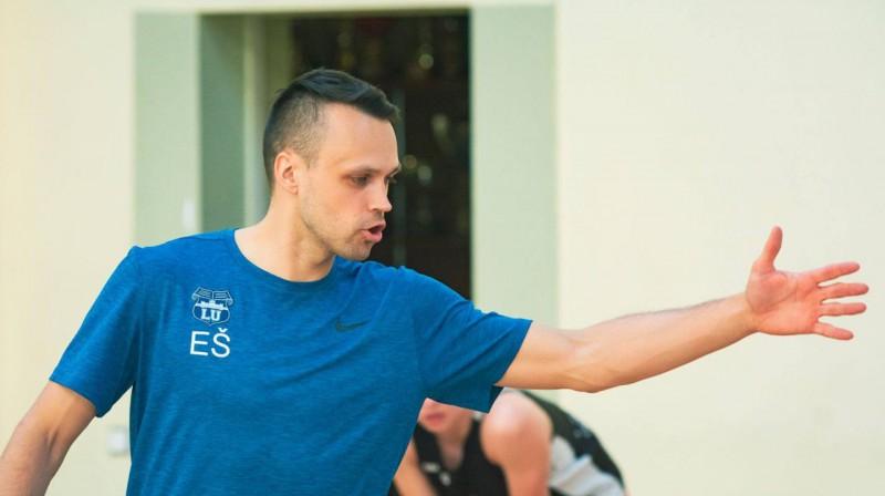 """LU / BS Rīga"" galvenais treneris Edijs Šlesers. Foto: LU basketbols"