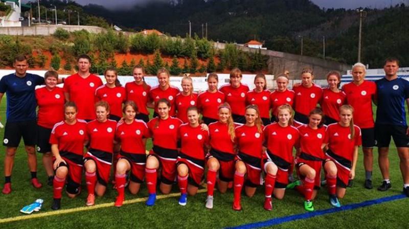Latvijas U17 sieviešu futbola izlase. Foto: LFF