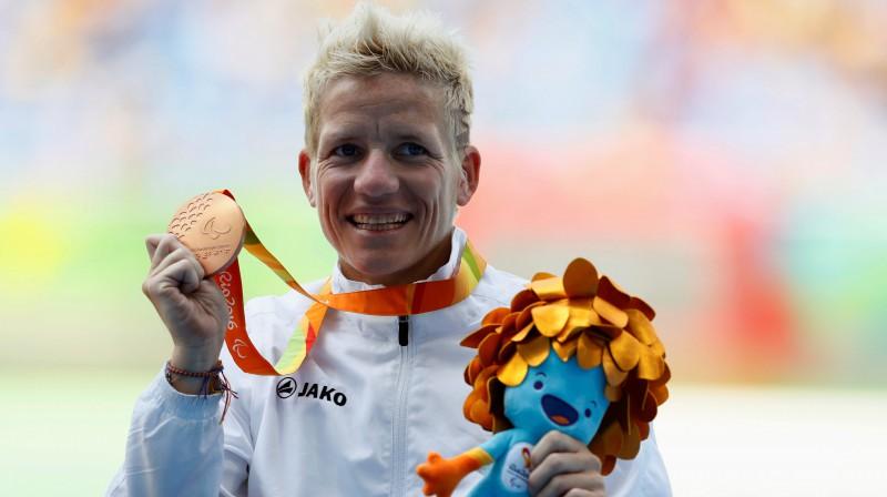 Marike Vervūta Riodežaneiro paraolimpiskajās spēlēs. Foto: Reuters/Scanpix