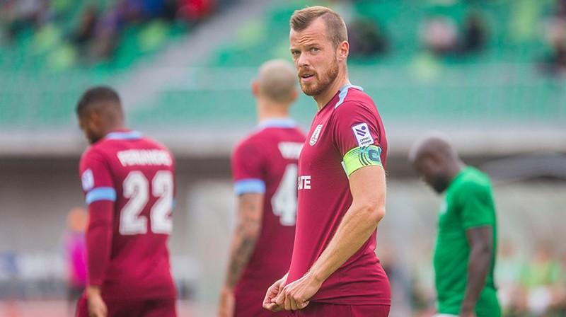 """Jelgavas"" kapteinis Renārs Rode. Foto: Jelgavas Vēstnesis/FK Jelgava"