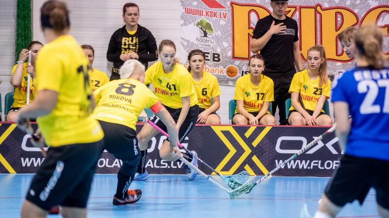 "Kocēnu ""Rubene"". Foto: Raivo Sarelainens, floorball.lv"