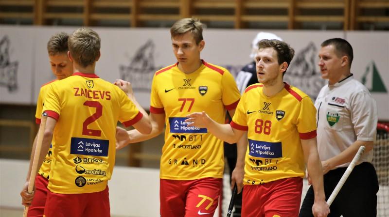 """""""Latvijas Hipotēka/Oxdog Ulbroka"""". Foto: Ritvars Raits, floorball.lv"""
