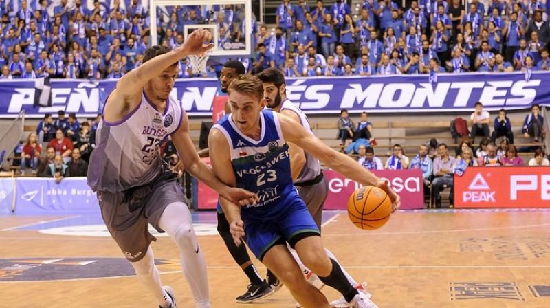 Rolands Freimanis Čempionu līgas spēlē Burgosā. Foto: FIBA