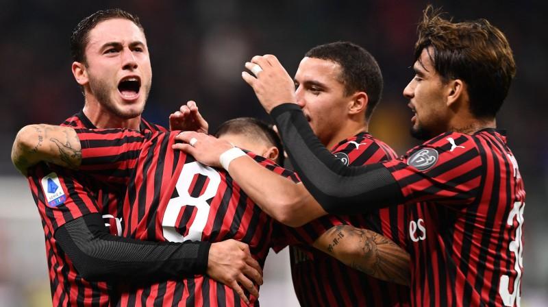 """""""Milan"""" futbolisti. Foto: imago images/Scanpix"""
